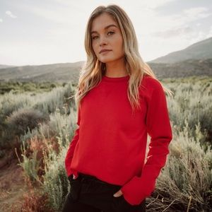 NWT Albion Fit Crimson Neo Crop Sweatshirt